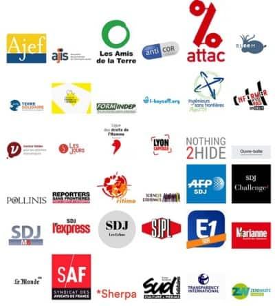 Logos des structures appuyant la demande d'annulation du refus d'accès aux documents administratifs